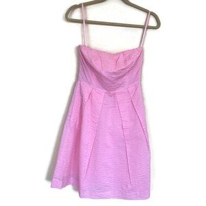 J Crew Embossed Cotton Lorelei Dress Size 0 Pink
